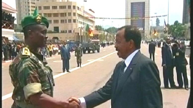 Le Général Melingui Nouma et le président Biya