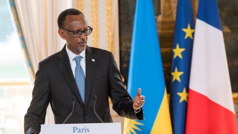 Paul Kagame à l'Elysée