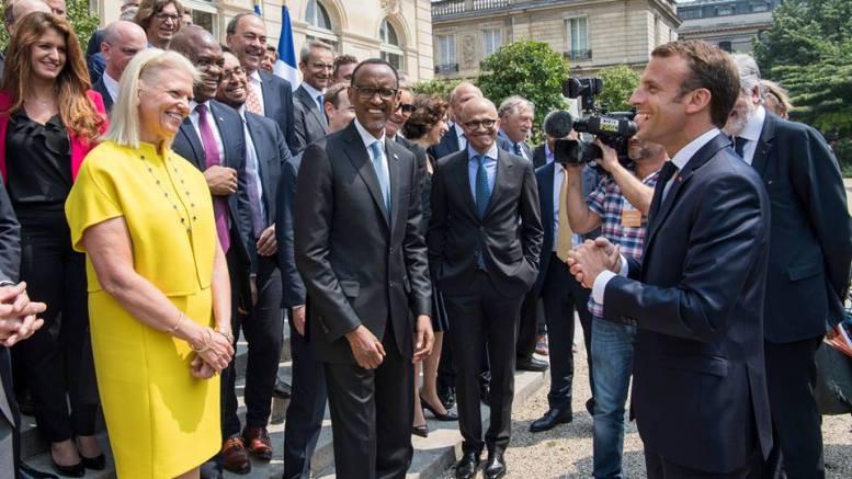 Paul Kagame et Emmanuel Macron