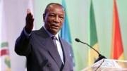 Alpha Condé, président de la Guinée