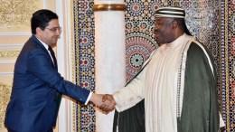 Le président Ali Bongo Ondimba et Nasser Bourita, ministre marocain des Affaires étrangères