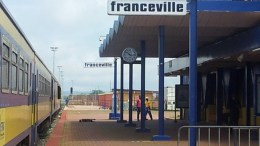 Le train à la gare de Franceville