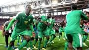 Les Lions du Sénégal en joie