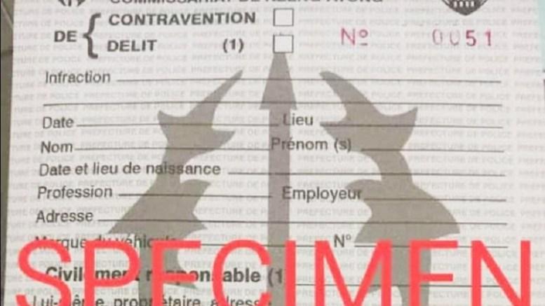 Une nouvelle fiche de contravention au Gabon