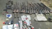 armes et munitions récupérées à Massuma