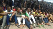 Des jeunes au Commissariat de Mpila