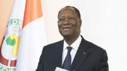 Alassane Ouattara, président de la Côte d'Ivoire