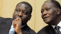 Guillaume Soro et Alassane Ouattara