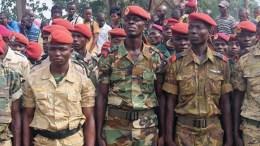 Les jeunes pour l'armée centrafricaine