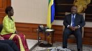 Tête à tête entre le président Bongo et Louise Mushikiwabo