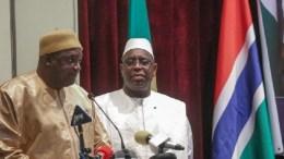 Macky Sall et Adama Barrow pour les soldats gambiens