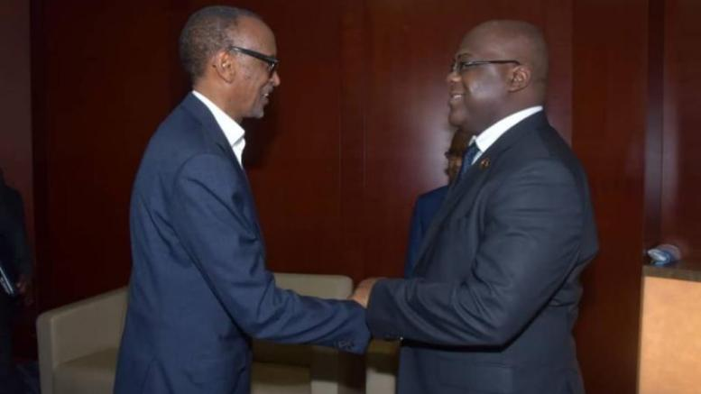Félix Tshisekedi et Paul Kagame