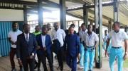 Les membres de Wabouna au Lycée d'Etat de l'Estuaire