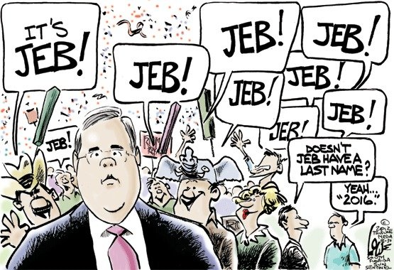 Jeb Bush's 2016 presidential campaign, cartoon
