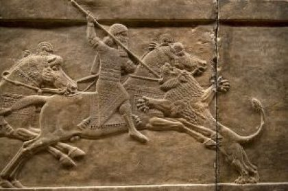 Ashurbanipal Lion Hunt Scene