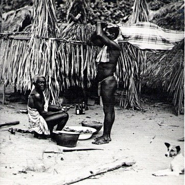 body_of_maroon_child_brought_before_medicine_man_1955