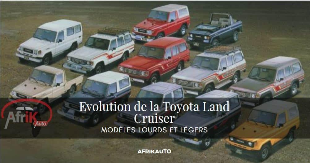 Evolution de la Toyota Land Cruiser (Modèles lourds et légers)