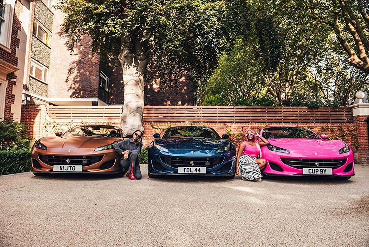 Ferrari Femi Otedola Dj Cuppy filles
