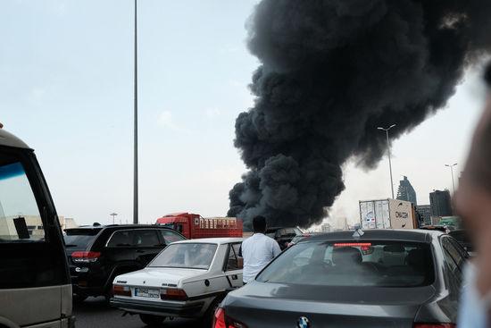 Liban Incendie au port de Beyrouth