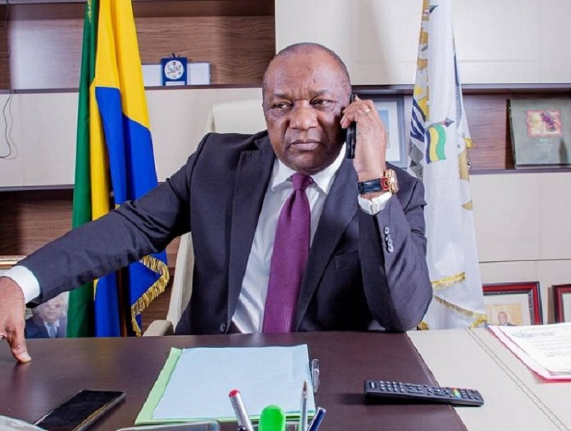 gabon maire prison corruption