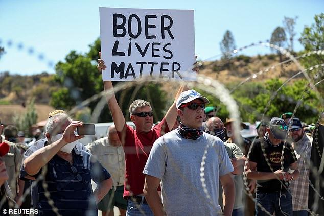 Afrique du Sud fermiers sud-africains blancs et manifestants noirs