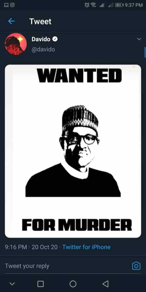 nigeria davido buhari