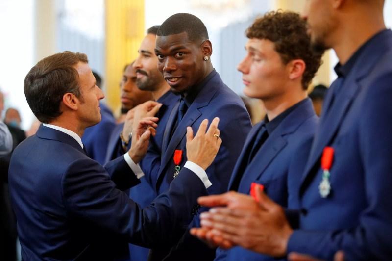 Paul Pogba Président Macron