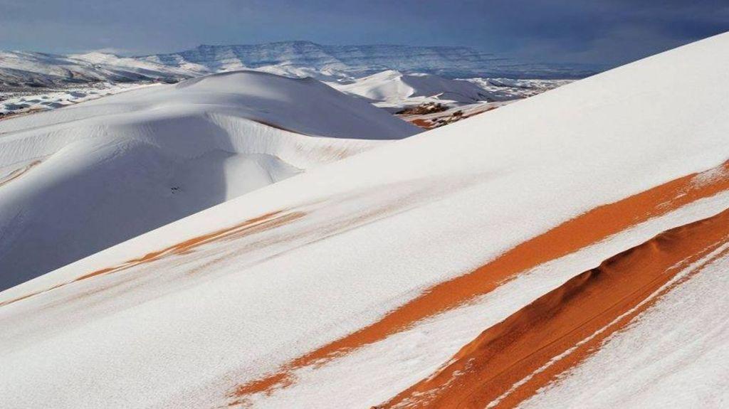Désert Sahara neige
