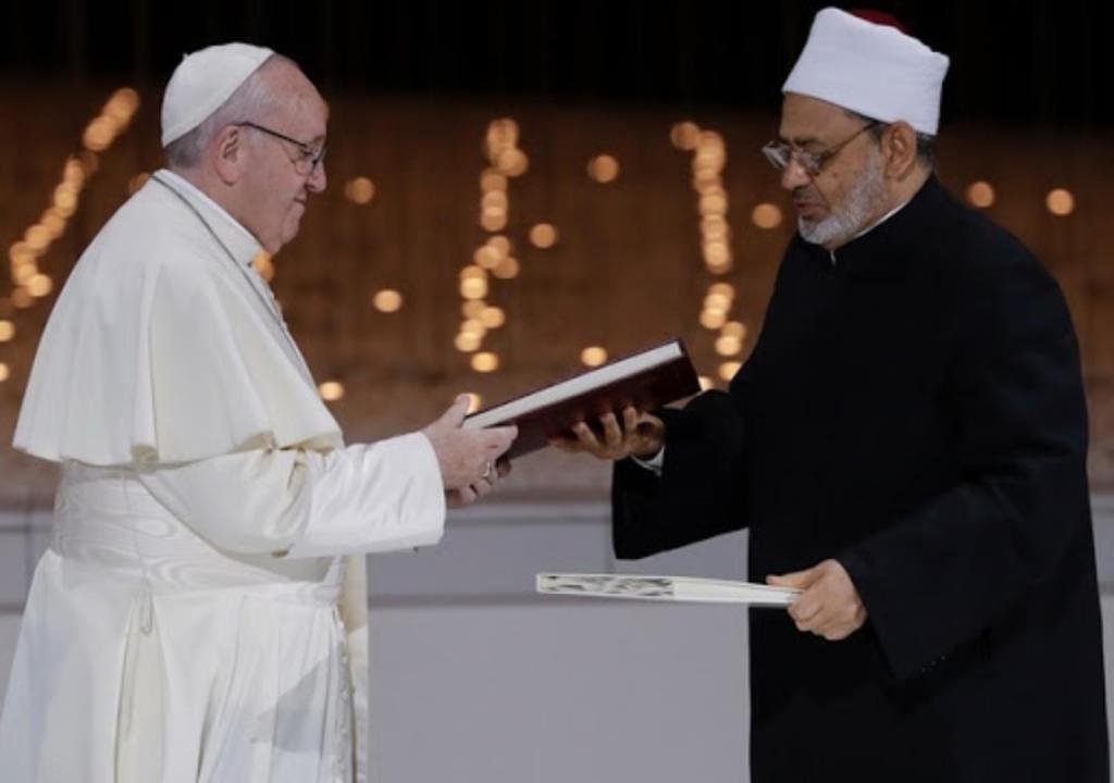 Pape François Imam Ahmad Al-Tayeb