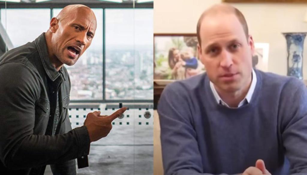 Prince William chauve plus sexy monde Dwayne Johnson