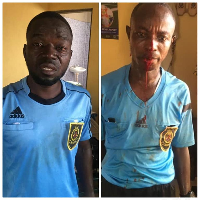 Ghana arbitres tabassés