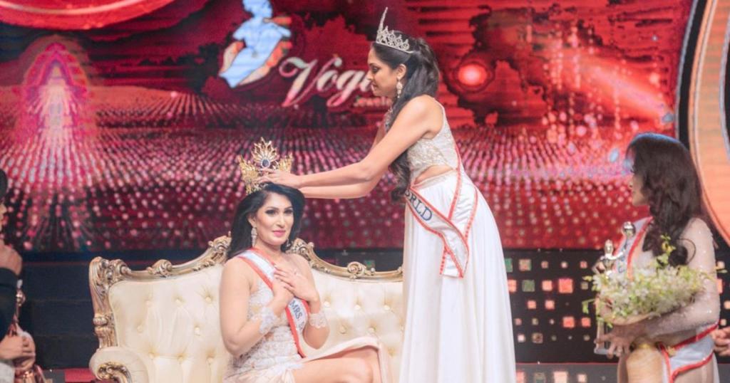 Caroline Jurie Madame monde Sri Lanka Pushpika De Silva
