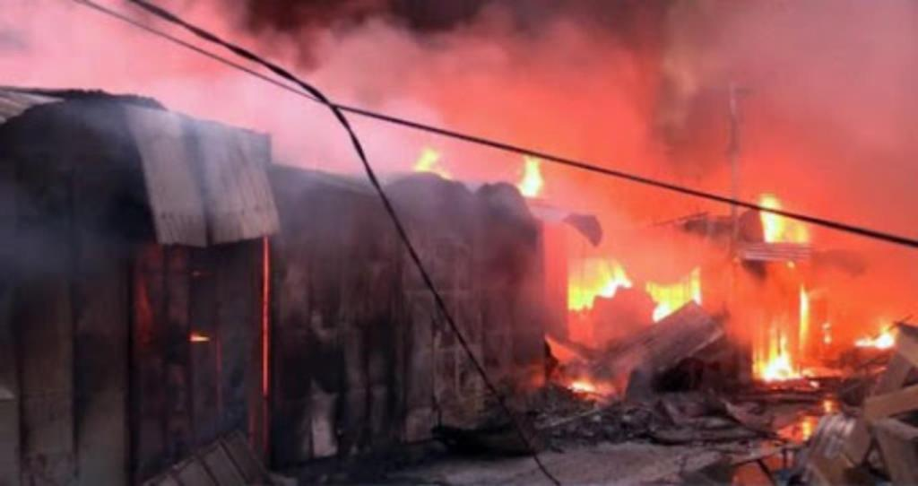 Marché Dantokpa en feu incendie