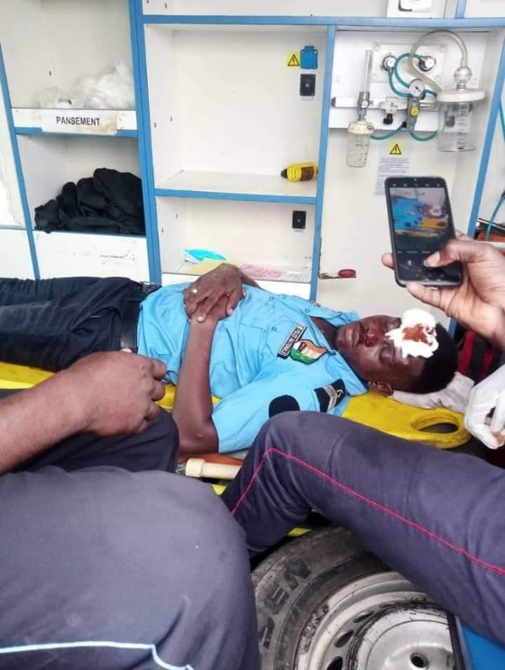 policier trimballé Makosso réaction