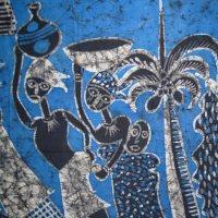 Large African Batik Wall Art - African Batik Painting ...