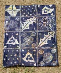 "Free-hand Batik Wall Art ""Twilight II""  AfriMod"
