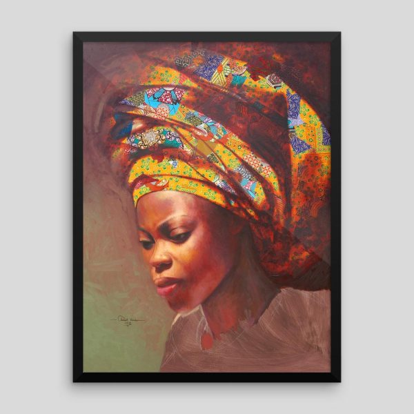 African Headwrap Fashion Woman With Yellow Afrimod