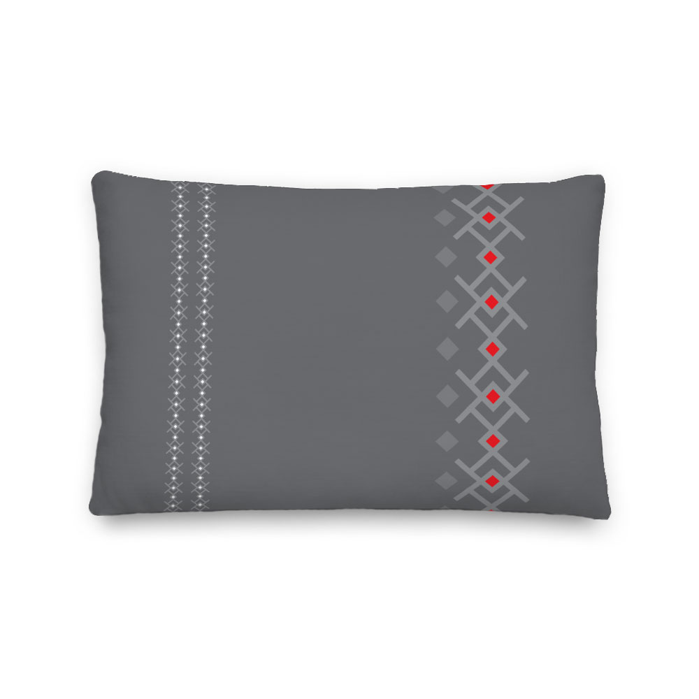 grey kuba scandi minimalist pillow indoor outdoor pillow