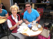 Croissants, tea and coffee
