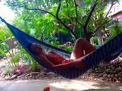 Most afternoons and early mornings I spent my time relaxing in this hammock.