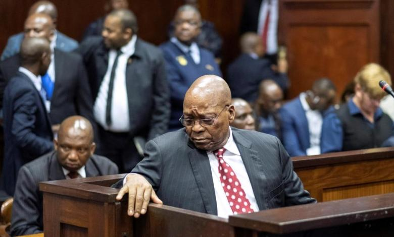 Jacob Zuma before an anti-corruption commission