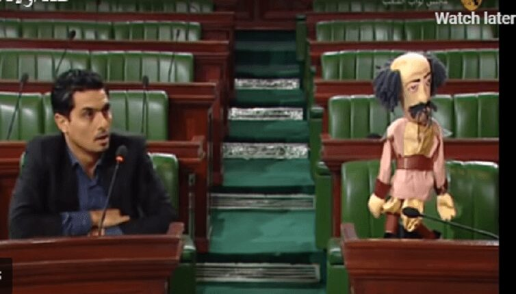Tunisia parliament: deputy replaces Minister of Social Affairs with a puppet!