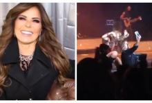 Gloria Trevi dishevel fan in full concert [Video]