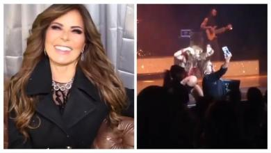 Gloria Trevi dishevel fan in full concert [Video]