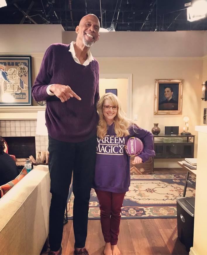 Wow: Melissa met Kareem (71) almost twice as big as she