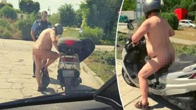 """German police stop naked scooter driver: """"It's just warm?"""""""
