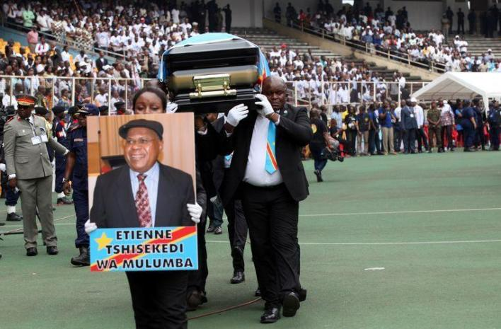 Tens of thousands of Congolese are saying goodbye to Tshisekedi