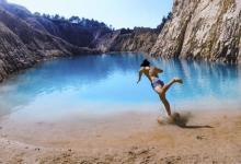 Instagrammers seriously ill after posing at toxic turquoise lake in Spain