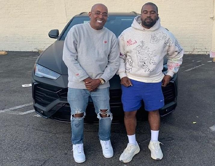 Kanye West gives his manager a very expensive sports car as a gift