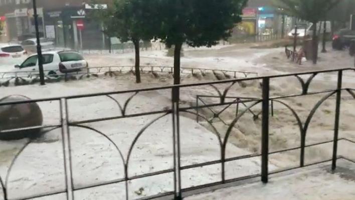 """Madrid environment hit by a fierce hailstorm: """"A flood never seen"""""""